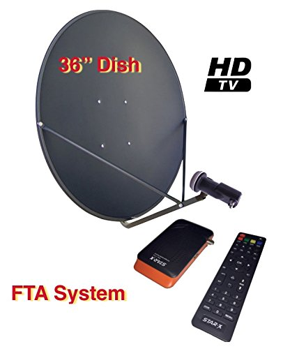 "Sadoun S1-PVR300HD 36"" FTA Complete HD DVR Satellite System Free To Air"