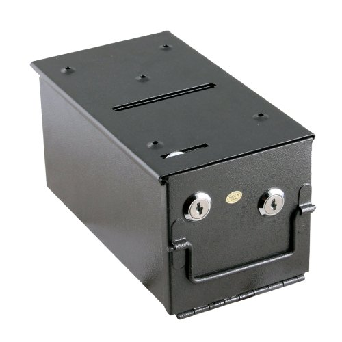 IDS Home Steel Rake Toke Drop Box with Bill Slot For Poker Table