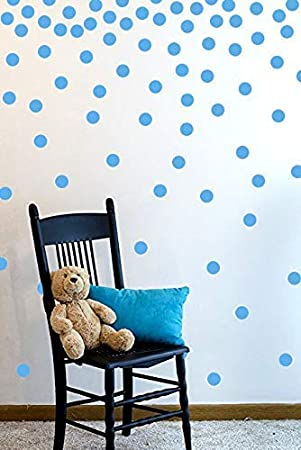 Round Sticker Large Paper Sheet Set for Nursery Room Gold Wall Decal Dots | Easy to Peel Easy to Stick Safe on Painted Walls 200 Decals Metallic Gold Removable Metallic Vinyl Polka Dot Decor