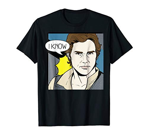 Star Wars Han Solo I Know Pop Art Couples Graphic T-Shirt