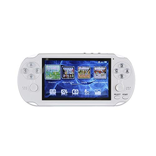 Cywulin Handheld Video Game Console Player Portable Built in 650 Games Gameboy with 4.3'' 64 Bit 16GB Gaming System, Supports Multiple File Formats, for Birthday Presents Kids Children Adults (White)