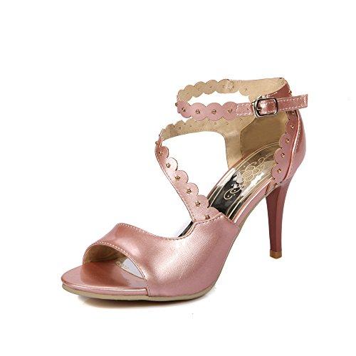 Pu High XDGG Sandali Heel sera partito Hollow traspirante modo del delle sposa di artificiale da pink donne SrXqS