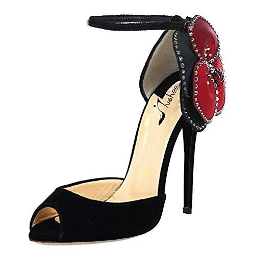 Jushee - Zapatos de tacón  mujer Negro - negro