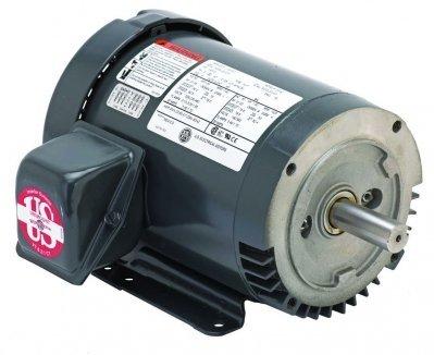 - US Motors (Nidec), U32P2DC, 1.5HP, 1755RPM, 3PH, 230V;460V;190V;380V, 145TC Frame, General Purpose Motor Motor.