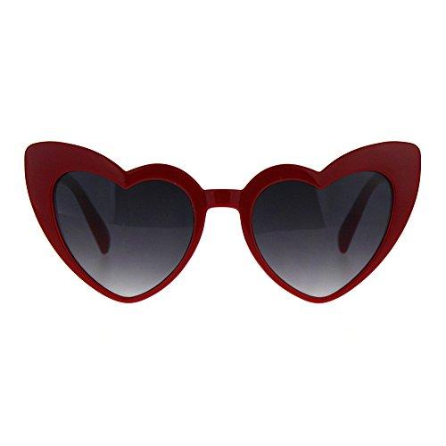 Cateye Heart Shape Sunglasses Womens Cute Fun Fashion Shades UV 400 - Shades Heart