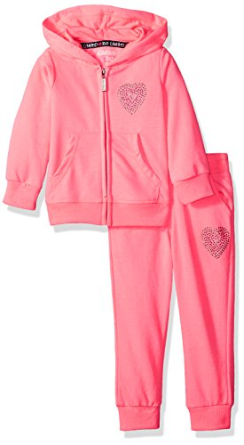 Limited Too Toddler Girls 2 Piece French Terry Set  More Styles Available   Neon Coral Pink  2T