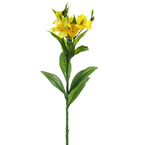 "25"" Silk Alstroemeria Flower Spray -Yellow/Gold (Pack of 12) 100"