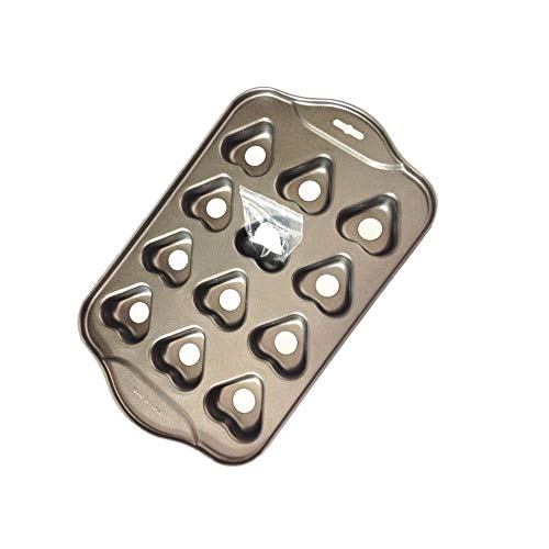 12 Cups Mini Non-stick Baking Pan Cheesecake Pan,Heart Shape Cake Pan