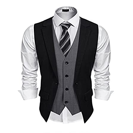 3XL FTIMILD Mens Plaid Suit Jacket Classic Oxford Blazers Slim Fit Formal Dinner Coat one Button Regular Fit Blue