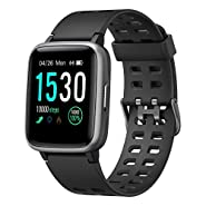 Smart Watch,YAMAY Fitness Tracker Fitness Watch Heart Rate Monitor IP68 Waterproof with Sleep Tracker 14 Sports Female Health Tracker Stopwatch,Smartwatch for iPhone Android Phones Men Women Kids
