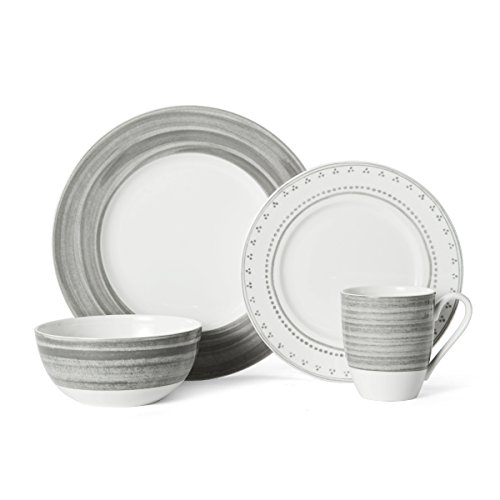 4 Piece Place Setting, Gray ()