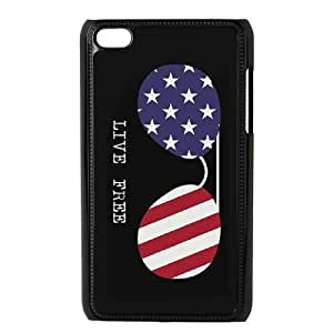 WINDFC American Flag Is It Friday Meowy Christmas Merry & Bright Phone Case For Ipod Touch 4 [Pattern-2]