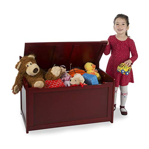Melissa & Doug Wooden Toy Chest, Sturdy Wooden Chest, 8.25 Cubic Feet of Storage, Easy to Assemble, Espresso