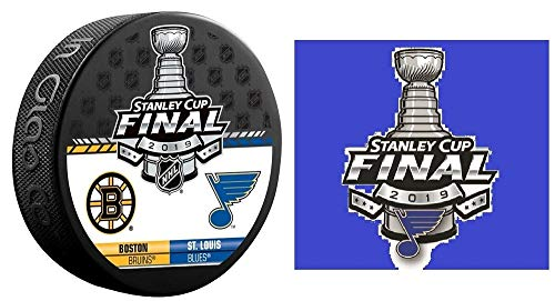 (The Hockey Company 2019 Stanley Cup Final Dueling Teams Puck Bruins VS. Blues & Blues Sticker PRE-Order Item - Shipping Begins June 2ND)