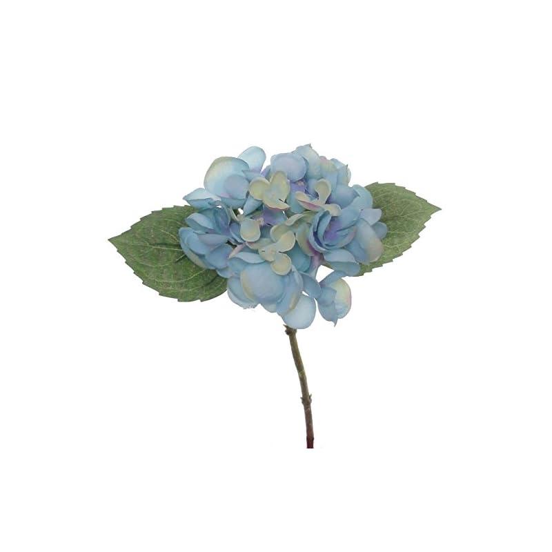 """silk flower arrangements lily garden 12.5"""" silk hydrangea flower spray - case of 6 (blue)"""