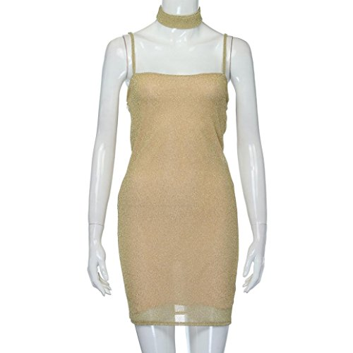 Sexy Womens Sleeveless Creazy Bodycon Club Gold Strap Party Evening Creazydog Mini Dresses wqEB5xOZO