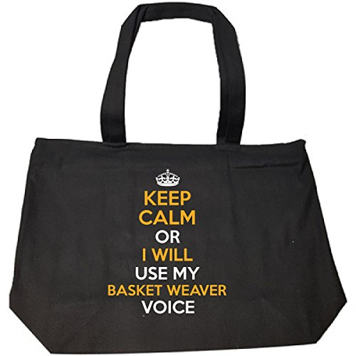 Basket Weaver Tote (Keep Calm Or I Will Use My Basket Weaver Voice Cool Gift - Tote Bag With Zip)