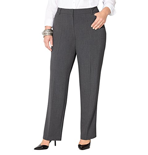 Avenue Women's Slimming Trouser Pant with Tummy Control, 18 Dark Grey