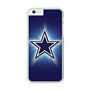 iPhone 6 White Cell Phone Case Dallas Cowboys NFL Customized Back Phone Case Cover NLYSJHA1676