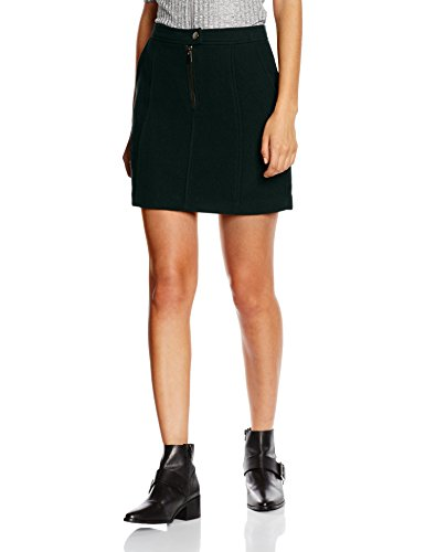 Look Wool New Green Zip Femme Dark Green Jupe qfwdwA