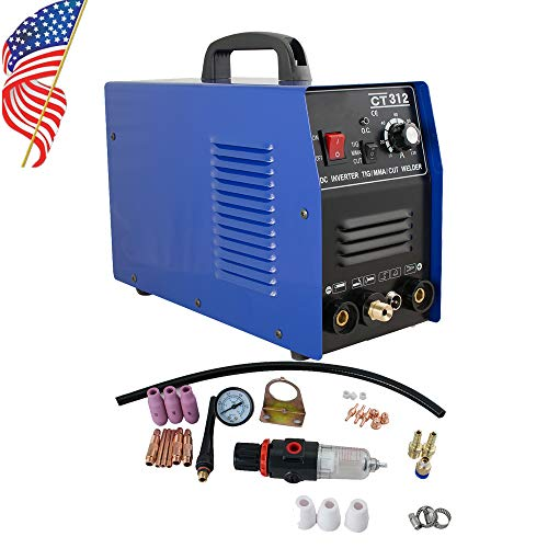 Denshine Welding Machine, Multi-function 3 in 1 CT312 TIG/MMA Air Plasma Cutter Welder Welding Torch Machine - US Shipping, 3-6D Delivery