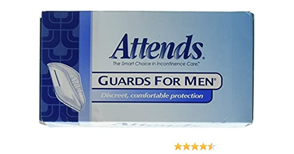 Amazon.com: Attends Male Guards, Bladder Control Guards For Men, MG0400 - Pack of 16: Health & Personal Care
