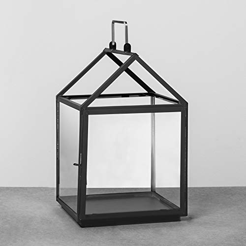 House Lantern Medium - Black - Hearth & Hand with -