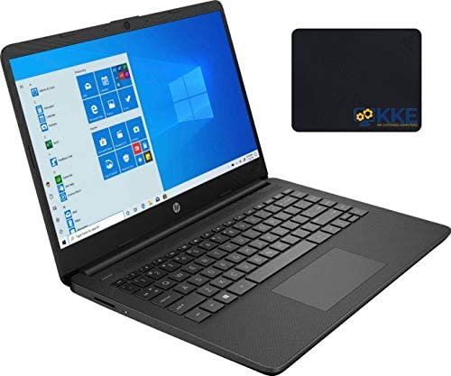 "2020 Newest HP 14"" HD Screen Laptop, AMD Athlon Silver 3050U Processor up to 3.20GHz, 12GB RAM, 512GB SSD, HDMI, Webcam, Wi-Fi, Bluetooth, Zoom Meeting, Online Class, Windows 10, KKE Bundle, Jet Black WeeklyReviewer"