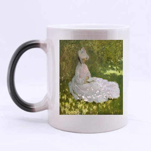 New Year/Christmas Day Gifts Artworks Claude Monet Woman Reading Graphic 100% Ceramic 11-Ounce Morphing ()