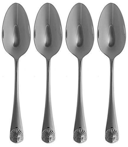OKSLO Reed & barton stainless williamsburg royal shell 6 1/8 teaspoons (set of four),