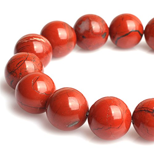Red Jasper Beads for Jewelry Making Natural Gemstone Semi Precious 10mm Round 15