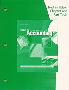 Teachers edition chapter and part tests book by mark w lehman teachers edition chapter and part tests century 21 south western accounting general journal 9e fandeluxe Gallery
