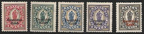 Stamp Germany Bavaria State 1920 Farwell Virgin Series Deutsche Reich Overprint MLH - Bavaria Stamp