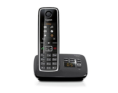 Téléphone fixe SIEMENS GIGASET C530A NOIR SOLO AVEC REPONDEUR