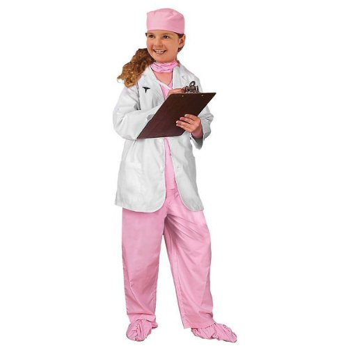 Jr. Girl's Physician Costume in Pink Size: