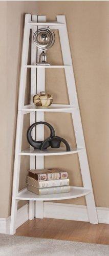 Corner Display Units - White Finish 5 Tier Corner Display Unit Shelf / Rack F04040