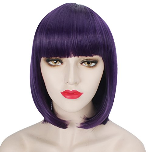 WELLKAGE inches Short Purple Hair product image