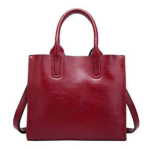 pelle in marrone per a tracolla donna Gongyu rosso Borsa ROPqIwxRnB