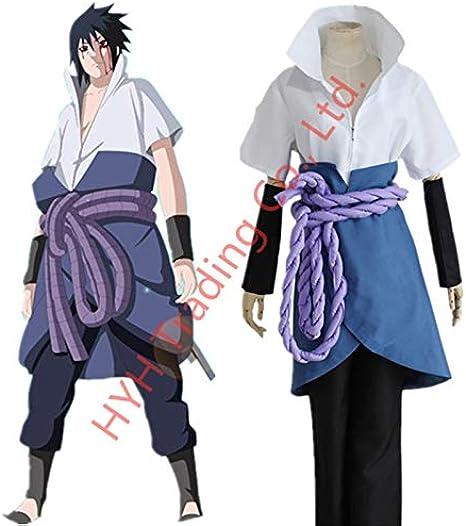 MSSJ Anime Naruto Shippuden Sasuke Uchiha Cosplay disfraz Ninja ...