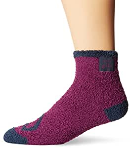 Life is good Women's LW Snuggle Crew Heart Socks (Perfect Plum), One Size