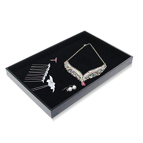 Bocar Black Display case Organizer Holder Catch All Jewelry (BP-KP)