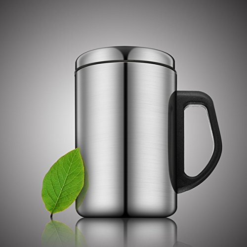 Stainless Steel Insulated Tea Cup Thermal Coffee Mug (Random: Capacity)