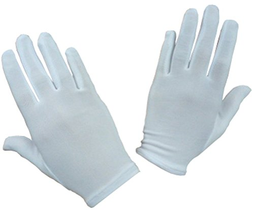 N'Ice Caps Women's White Stretch Special Occasion Parade Gloves (Large/X-Large, White) ()