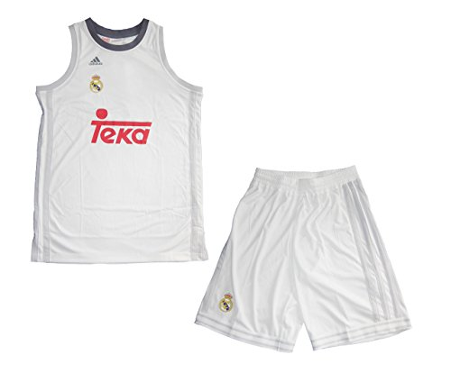 fan products of Adidas Kid's Real Madrid CF 2015-2016 Home Kit - White/Yellow/Red/White/GRICLA/ONIX (Youth Large)