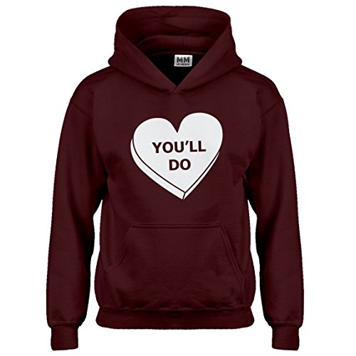 Indica Plateau Kids Hoodie You'll Do Valentines Day Small Maroon Hoodie by Indica Plateau