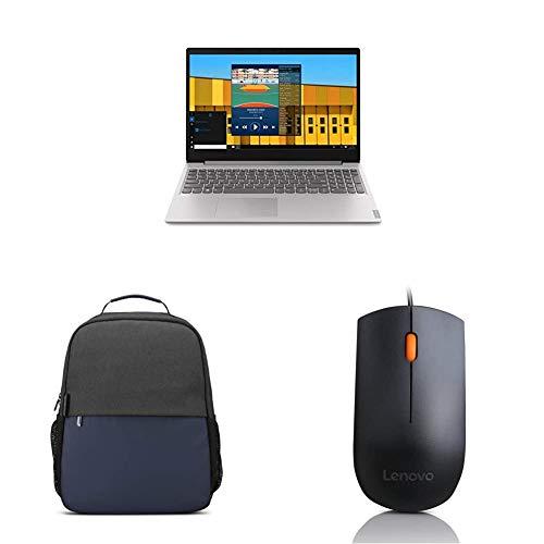 "Lenovo Ideapad S145 10th Gen Intel i3 15.6"" FHD Thin & Light Laptop (4GB/1TB HDD/Win/Platinum Grey/1.85Kg), 81W800SAIN + Lenovo 15.6 inch Slim Everyday Backpack + Lenovo 300 Wired USB Mouse GX30M39704"