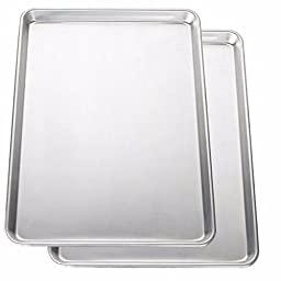 Aluminum and Non-stick Surface Half Baking Sheets, Rectangle Shape (Pack of 2) Includes Custom Mouse Pad