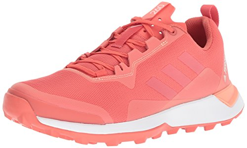 adidas outdoor Women's Terrex CMTK W Walking Shoe, Trace Scarlet/White/Chalk Coral, 10.5 M US