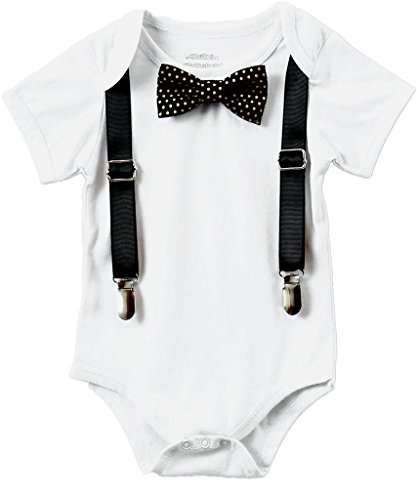Noah's Boytique Baby Boys New Years Eve Outfit Bow Tie 0-3 Months