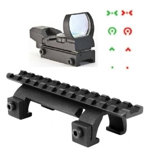 Ultimate Arms Gear Tactical Heckler & Koch H&K HK G3 MP 5 MP5 Submachine Gun Rifle Rail Claw Scope Sight Mount + Reticle Red Green Extreme Ops Edition Open Reflex Sight (Deluxe Red Dot Sights)
